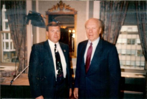 With President Gerald R. Ford - NYC Jan 1995