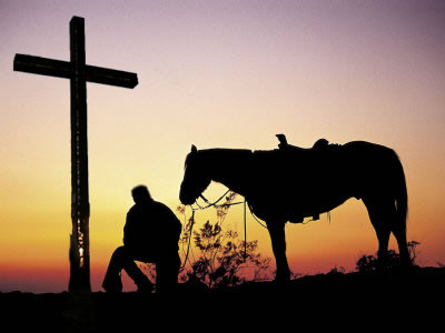 Cowboy Sunset Cross